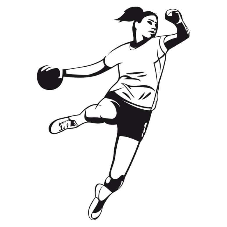 wandtattoo handballerin