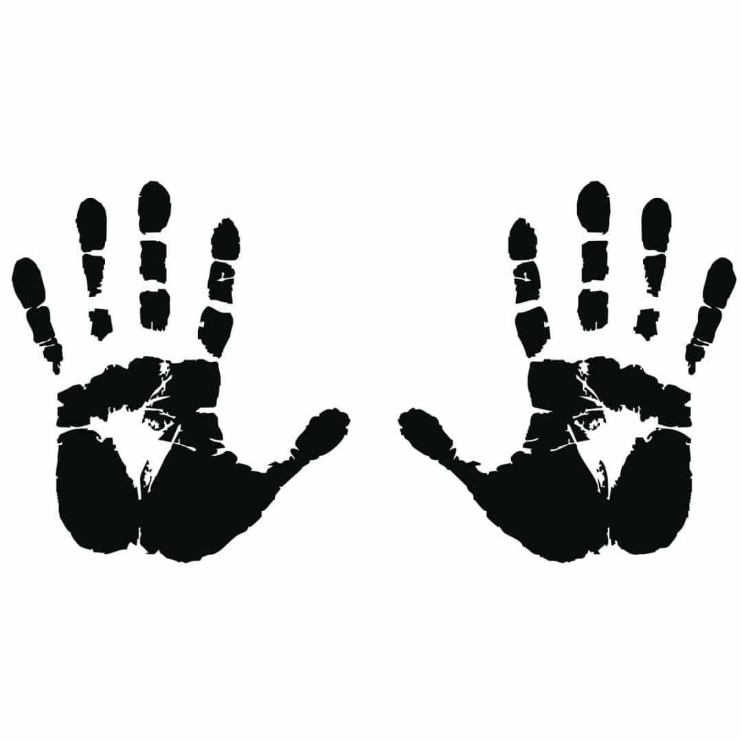 Hand Print Wall Sticker