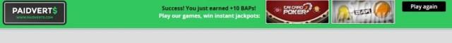 Credited BAP on winning