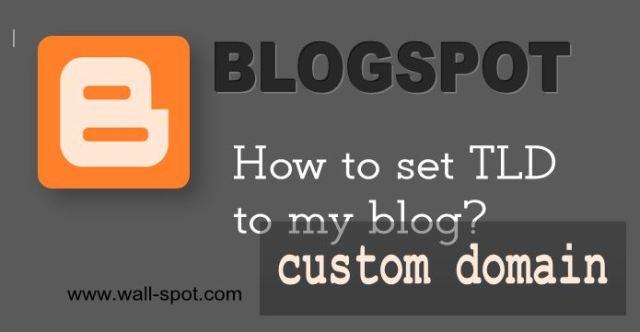 setting up blogspot custom domain