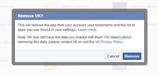 Remove apps conferm