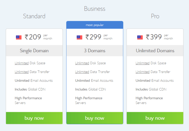 Bluehost linux hosting plans for India