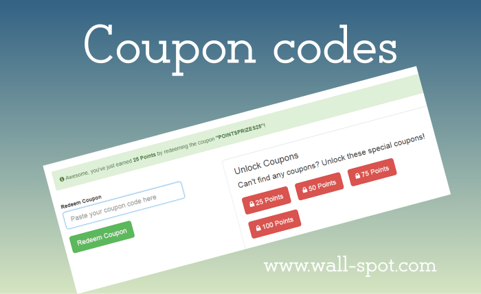 PointsPrizes Coupon Codes List To Earn Free Credits - wall-spot