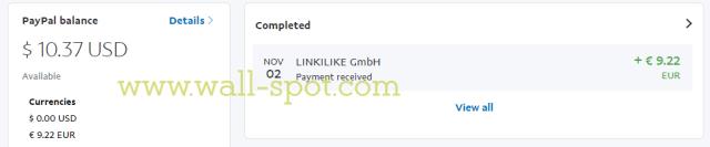 LinkiLike paypal summery