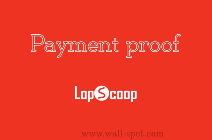 Lopscoop Payment Proof