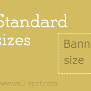 Standard banner sizes