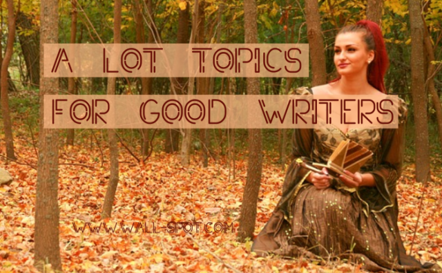 A lot topics for web content writer