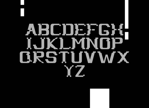 PX Slide alphabets