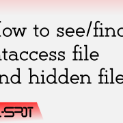 Find .htaccess file