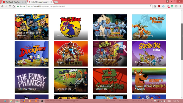 Online old cartoon TV shows