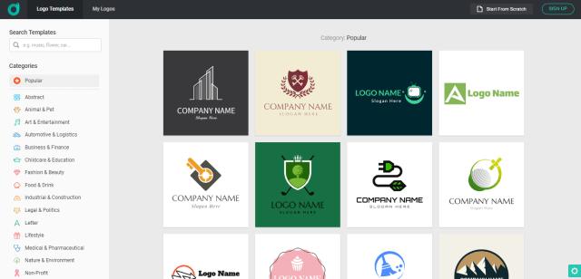 DesignEvo templates