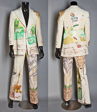 Elton John's yellow brick road suit