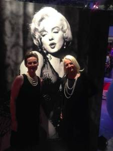 Sarah and Carey at the London private view of Julien's Marilyn Monroe Auction in December 2015