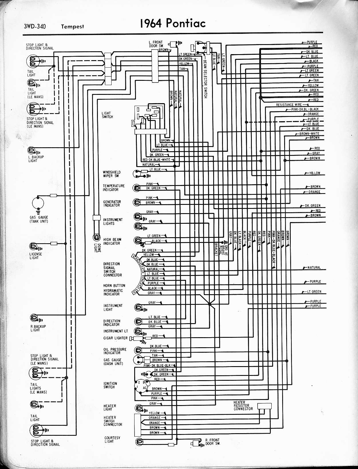 Gm Internal Regulator Wiring Diagram Pontiac Gto