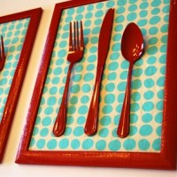 Cutlery wall decoration for kitchen