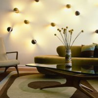 Fancy Lights Living Room Wall Decoration
