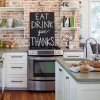 Kitchen Brick Wall Decoration