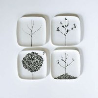 Square plate wall art