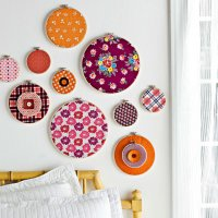 Fabric frame wall decoration