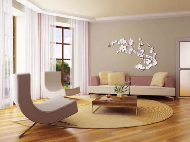Wall Decorations for Living Room   Wall Decoration Pictures Wall     natural pink grey for wall decor living room