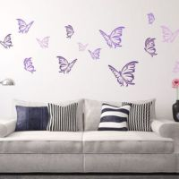 Butterfly Impression Wall Stickers