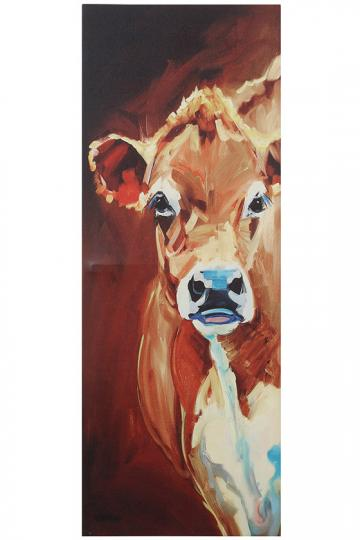 One Cow Tall Canvas Wall Art Wall Decoration Pictures