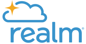 Logo of Realm church management system.