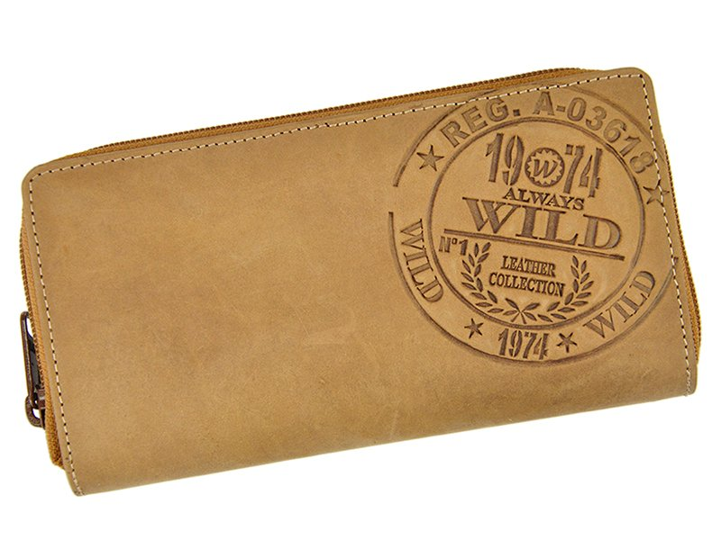 Always Wild Women Unique Wallet Tan Walletsie