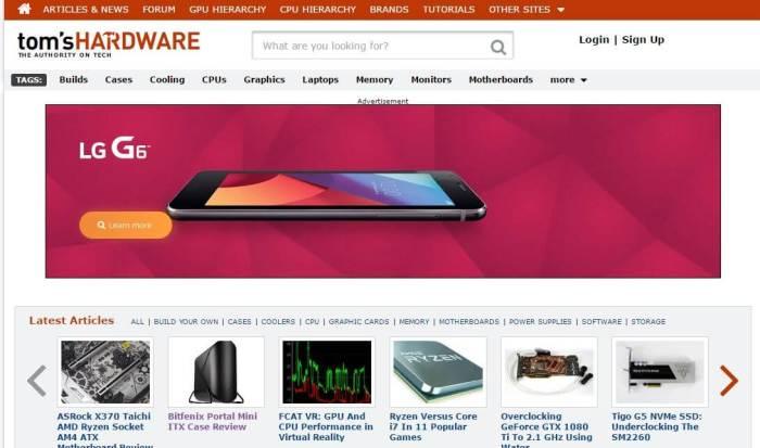 TomsHardware -Amazon Affiliate Website Example