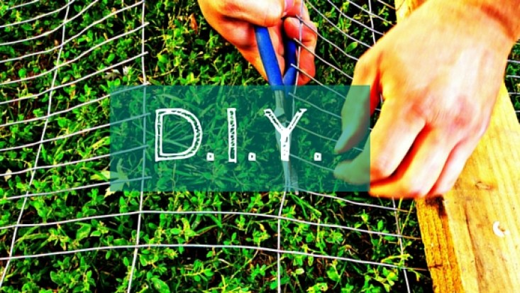 D.I.Y Hands cutting a wire fence. Doing projects yourself save you money!