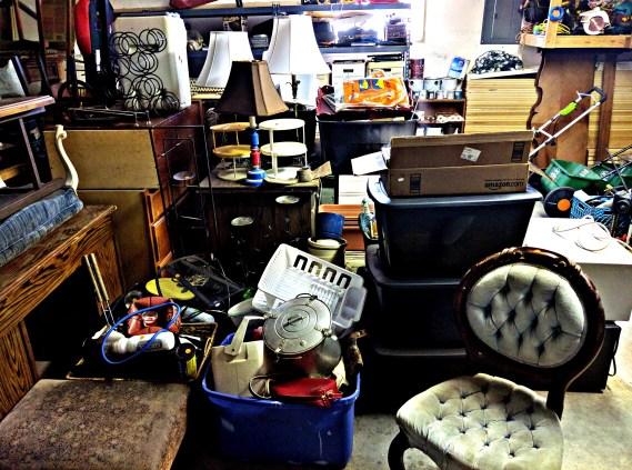 pile of garage sale stuff