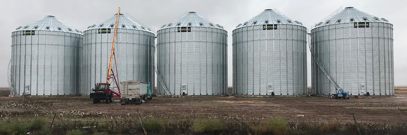 Grandfield Ok Grain Bins