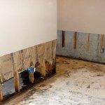 Basement flood, walls removed