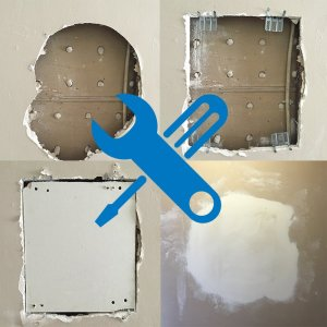 Wall Fixers drywall repair in 4 steps