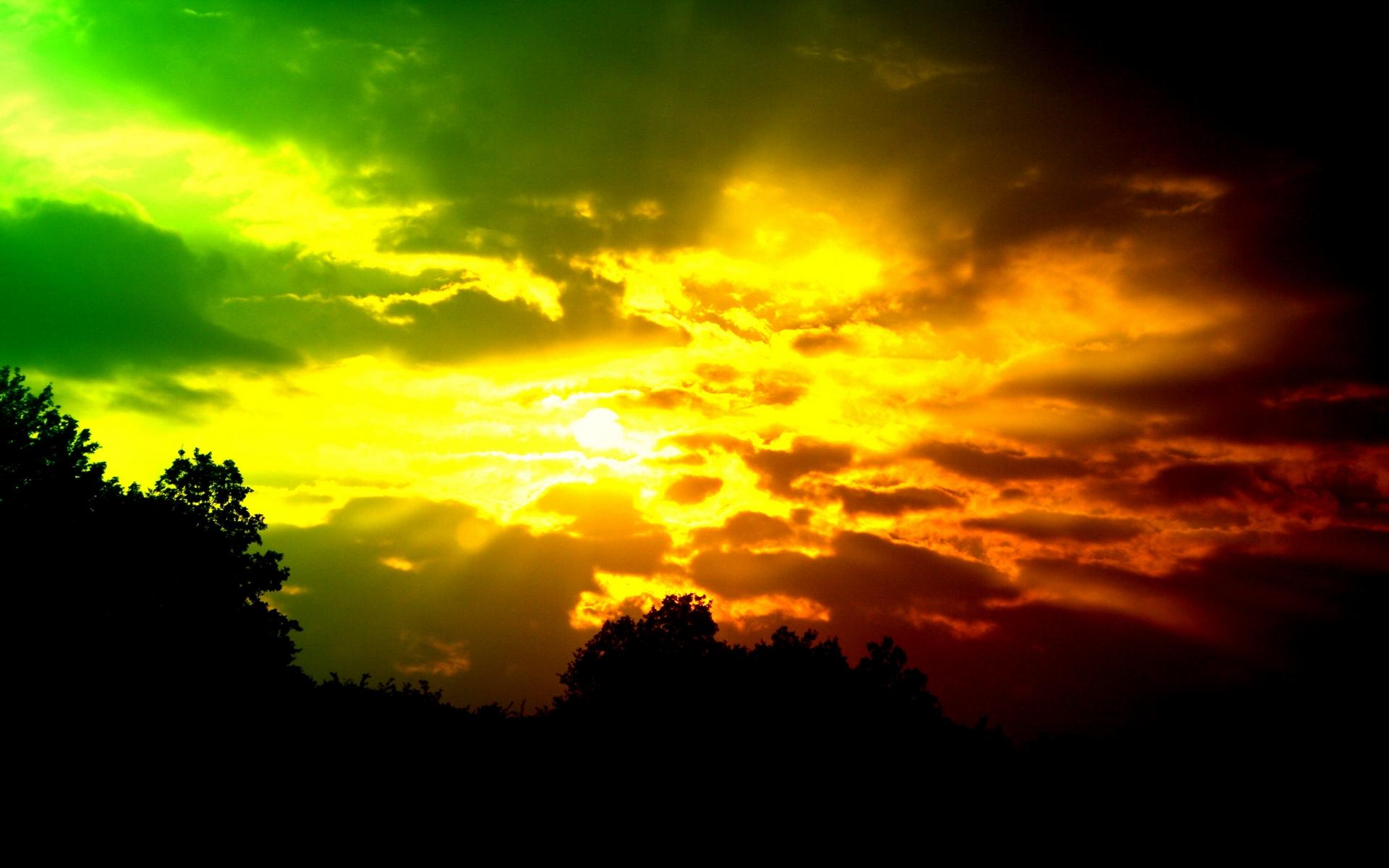 Fond d'ecran Ciel coloré