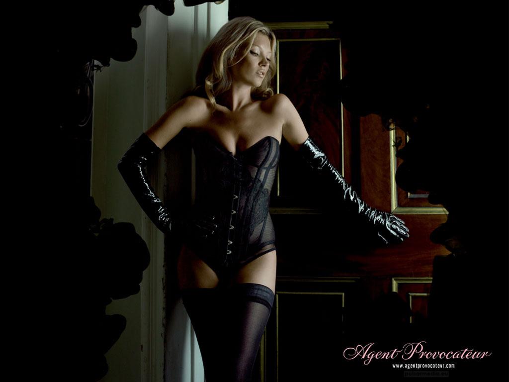 Fond d'ecran Agent Provocateur Kate Moss