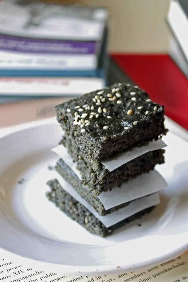 Black Sesame Sunshine Brownies 5--033113