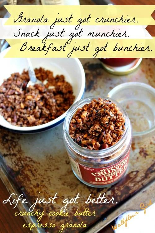 Crunchy Cookie Butter Espresso Granola 5--010614