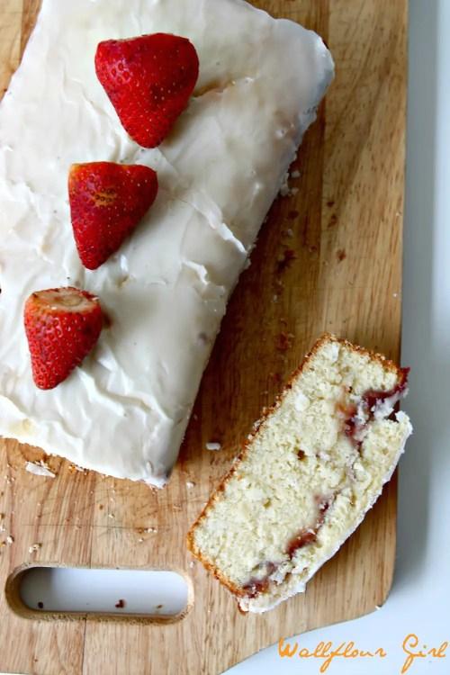 Buttery Moist Lemony Glazed Strawberry Swirl Pound Cake 13--020514