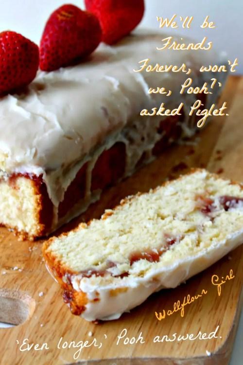 Buttery Moist Lemony Glazed Strawberry Swirl Pound Cake 20--020514