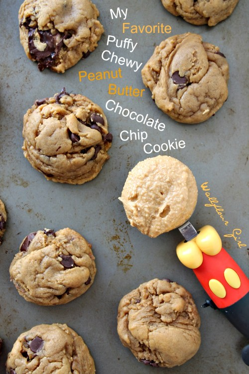 My Favorite Puffy, Chewy Peanut Butter Chocolate Chip Cookie 2--022114