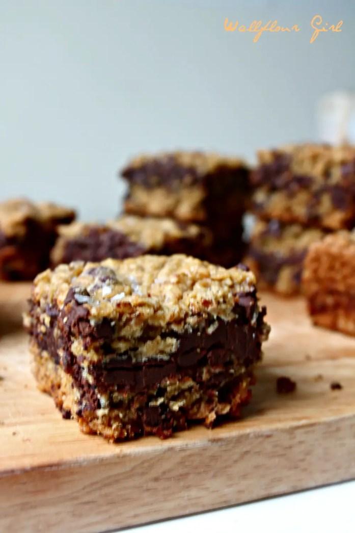 Salted Oatmeal Cookie Chocolate Bars 20--071614