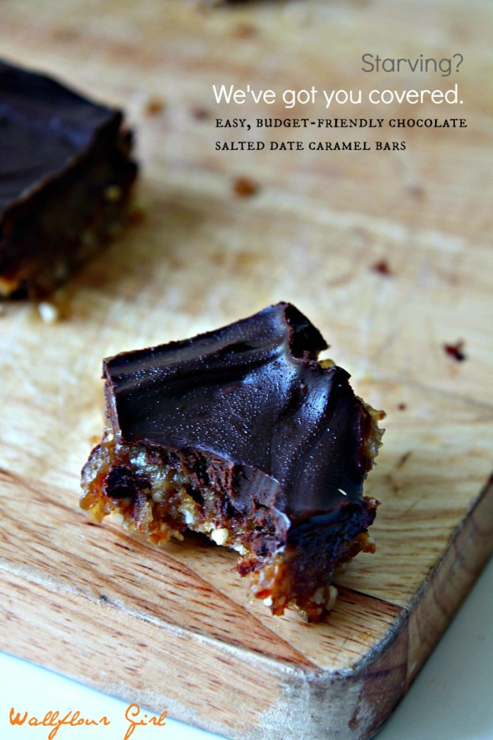 Chocolate Salted Date Caramel Bars (Raw, V, GF) 8--090114
