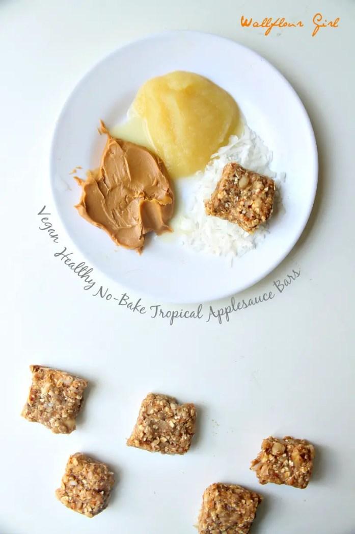 Healthy No-Bake Tropical Coconut Applesauce Bars 6--090314