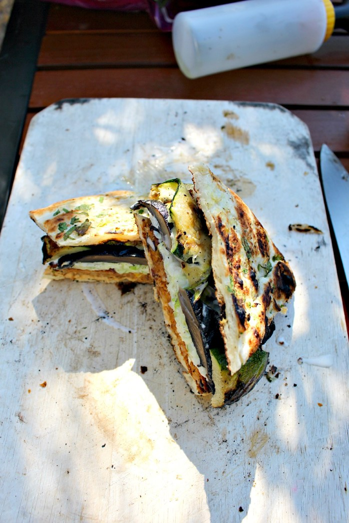 Grilled Vegetable Veggie Burger Naan-wich 14--071215