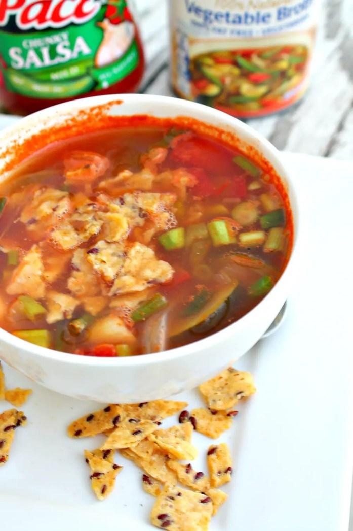 Vegetarian Tortilla Soup 10--072715