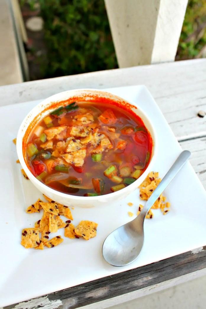 Vegetarian Tortilla Soup 7--072715
