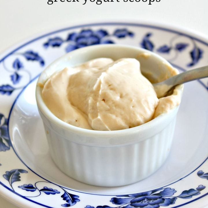 Easy DIY Peanut Butter Honey Greek Yogurt Scoops