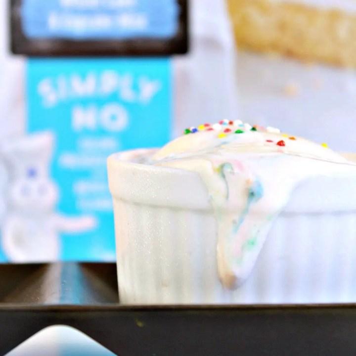 No-Churn Cake Batter Ice Cream