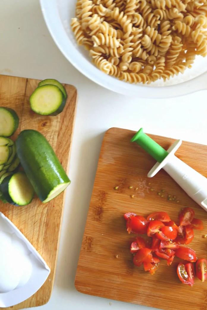 Zucchini Tomato Pasta Marinara OXO 10--022816